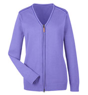 Custom Devon & Jones Ladies Manchester Fully-Fashioned Full-Zip Sweater