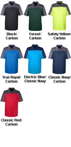 Ash City Core 365 Mens Balance Colorblock Performance Pique Polo - All Colors