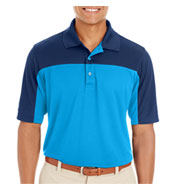 Custom Core 365 Mens Balance Colorblock Performance Pique Polo