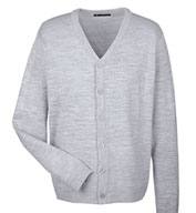 Custom Harriton Mens Pilbloc™ V-Neck Cardigan Sweater