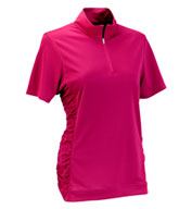 Custom Womens Vansport™ Omega Ruched Polo
