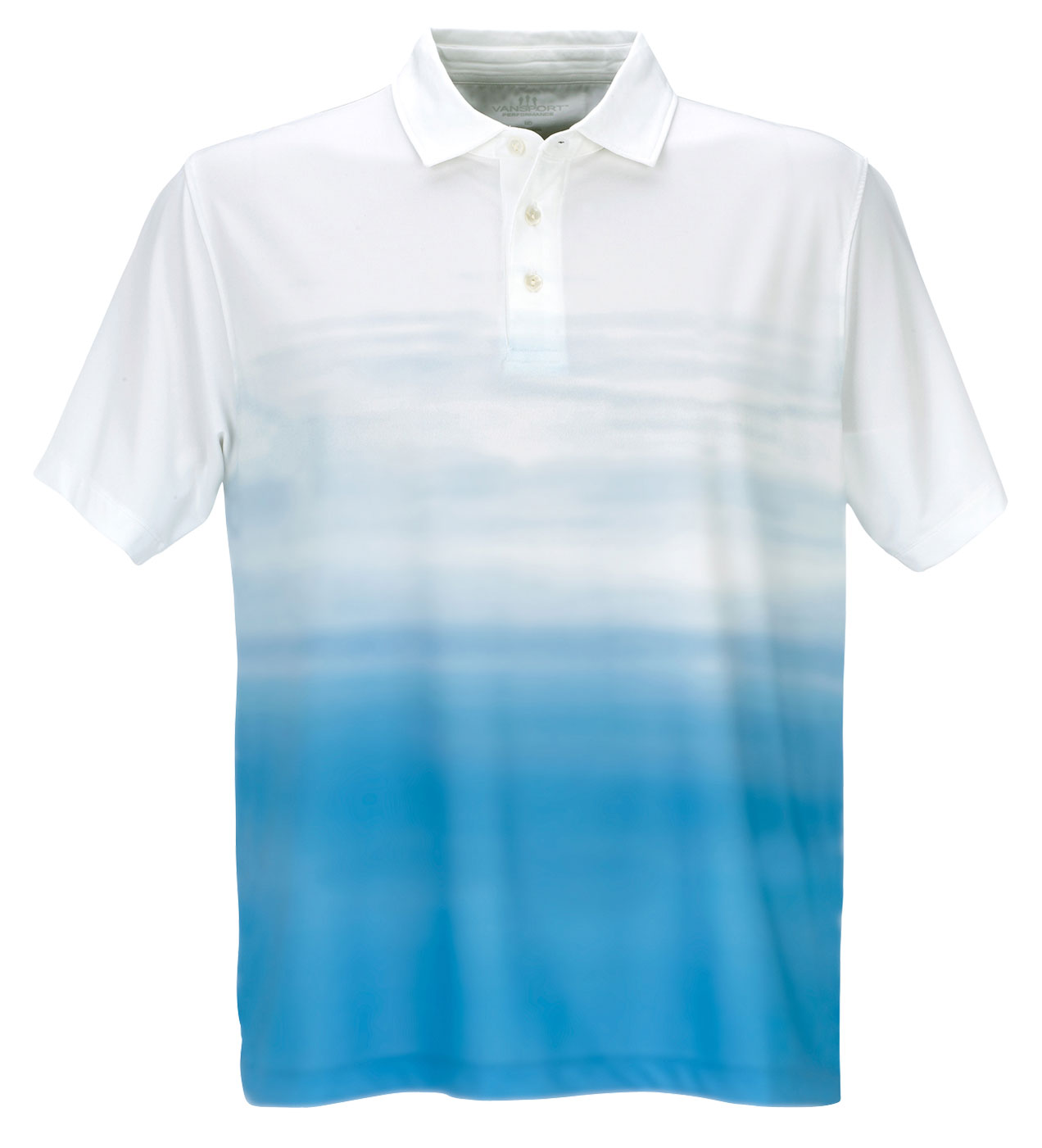 Vansport™ Pro Ombre Print Mens Polo