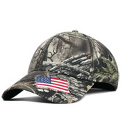 Superflauge Camo with Woven Flag Accent