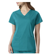 Custom Charlotte V-Neck Ladies Scrub Top from Wonder Wink Next®