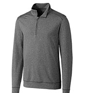 Custom Cutter & Buck Mens Big & Tall Shoreline Half Zip