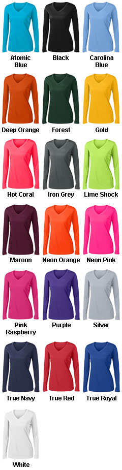 Ladies Long Sleeve PosiCharge® Competitor V-Neck Tee - All Colors