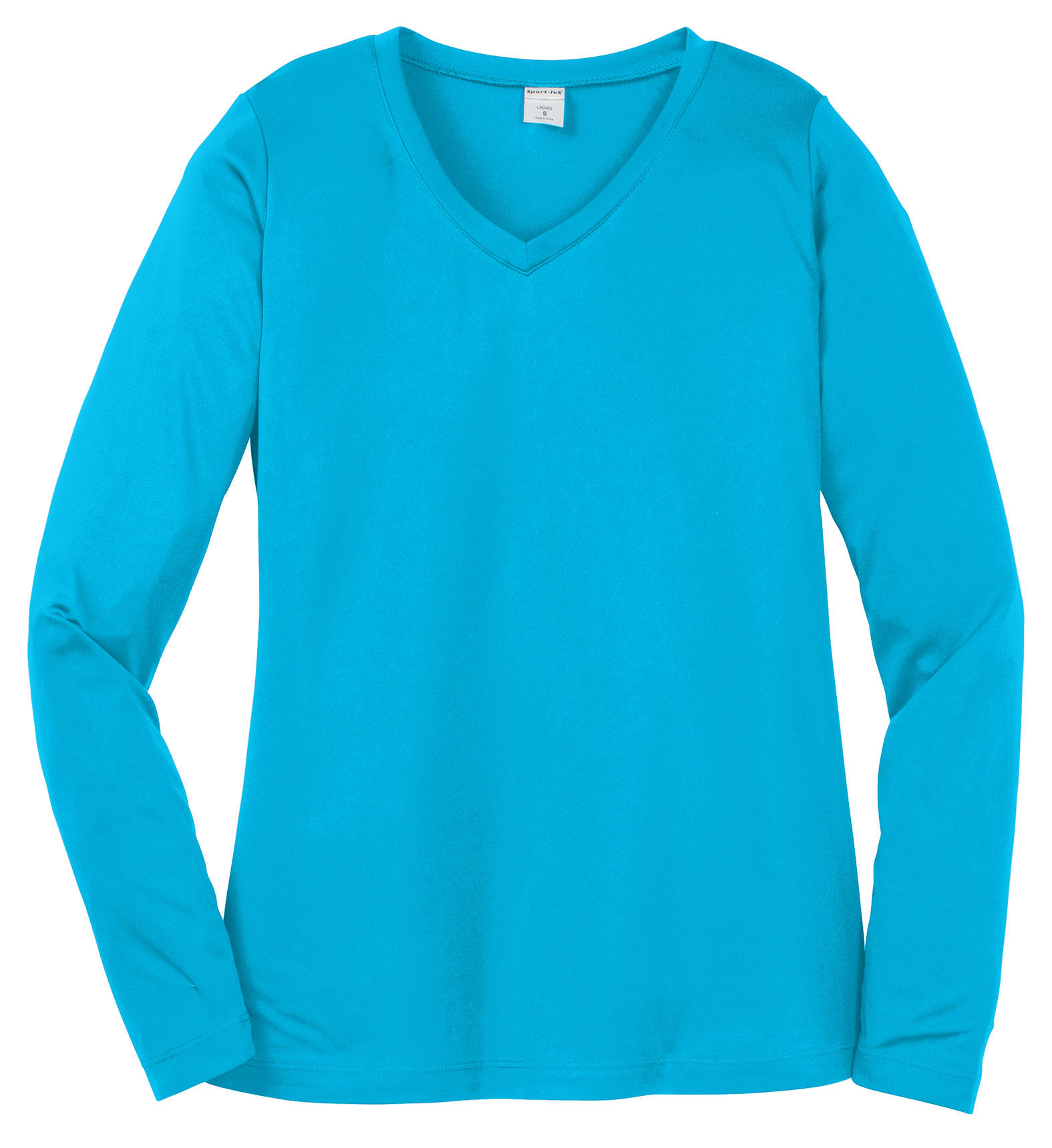 Sport-Tek® Ladies Long Sleeve PosiCharge® Competitor™ V-Neck Tee