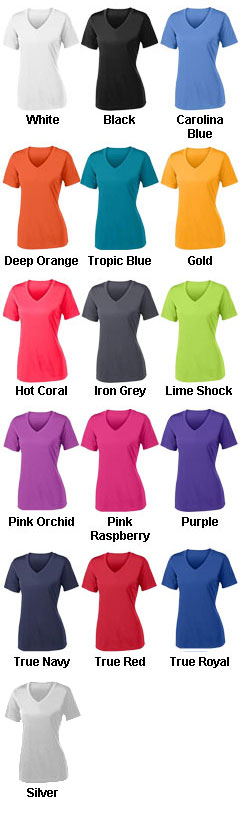 Ladies PosiCharge® Competitor V-Neck Tee - All Colors