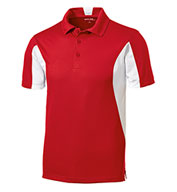 Custom Sport-Tek® Tall Side Blocked Micropique Sport-Wick® Polo