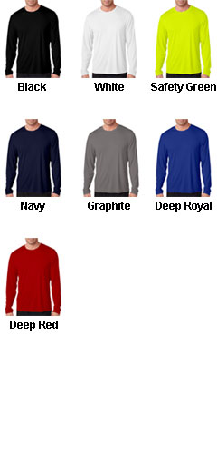Hanes Adult Cool Dry Long Sleeve Performance Tee - All Colors