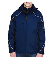 Custom North End Mens Angle 3-in-1 Jacket with Fleece Liner