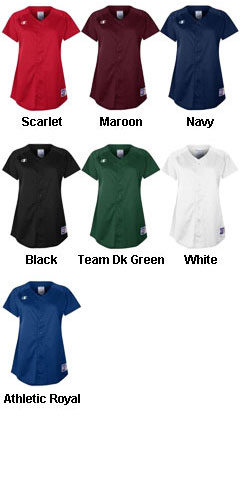 Champion Womens Full-Button Jersey - All Colors