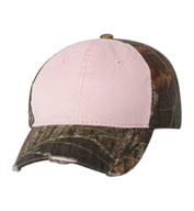 Custom Outdoor Cap Womens Frayed Camouflage Cap
