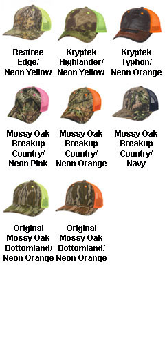 Camo Cap with Neon Mesh Back - All Colors