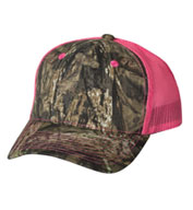 Custom Camo Cap with Neon Mesh Back