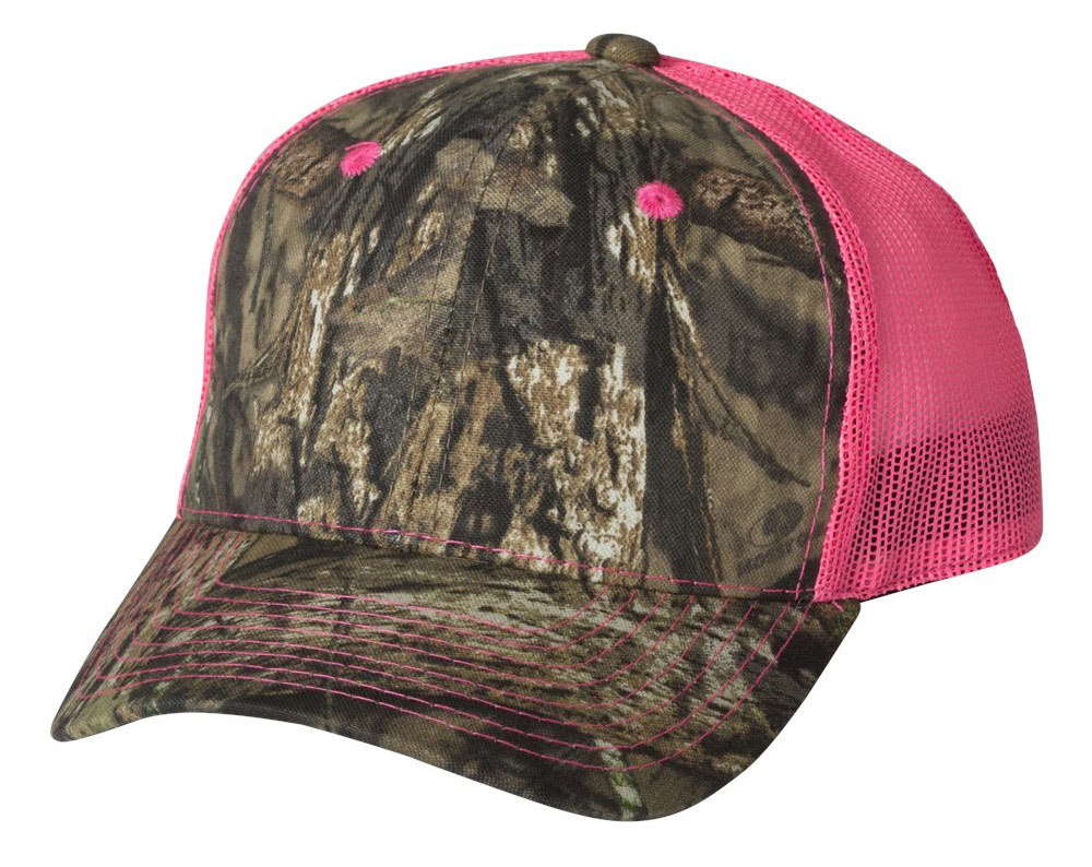 Outdoor Cap Camo Cap with Neon Mesh Back
