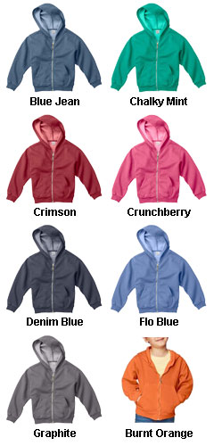 Youth Garment Dyed Full Zip Sweatshirt - All Colors