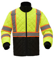 Custom Light Weight Quilted Two Tone Mens Jacket
