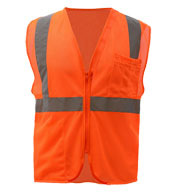 Custom GSS Safety Adult Mesh Zip Safety Vest