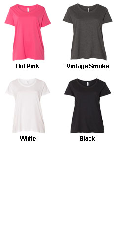 Ladies Curvy Fit Scoopneck Tee - All Colors