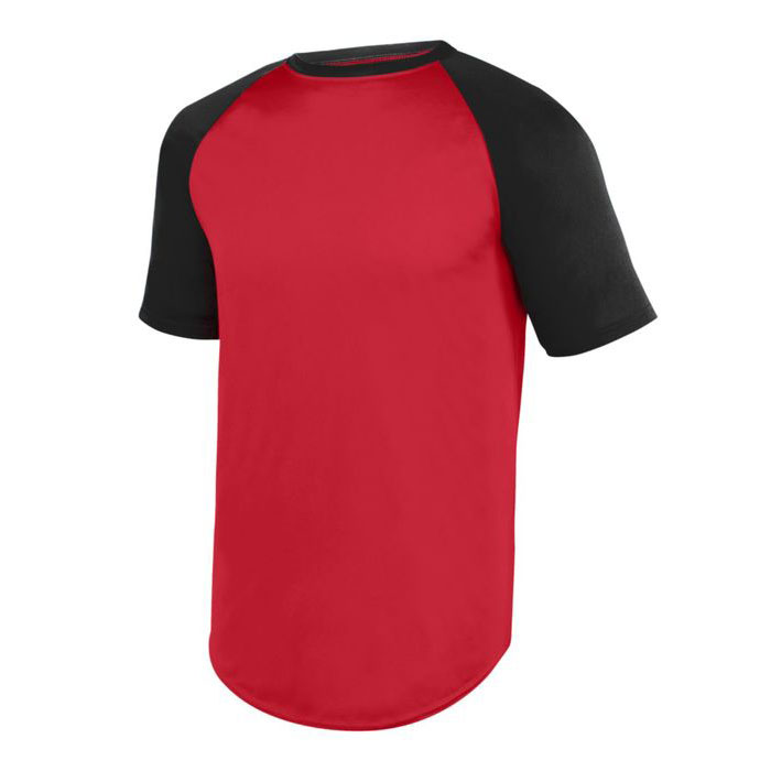 Adult Wicking Short Sleeve Baseball Jersey