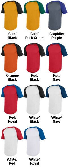Youth Wicking Short Sleeve Baseball Jersey - All Colors