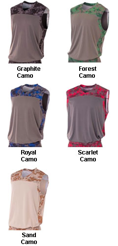 Youth Camo Performance Muscle Top - All Colors