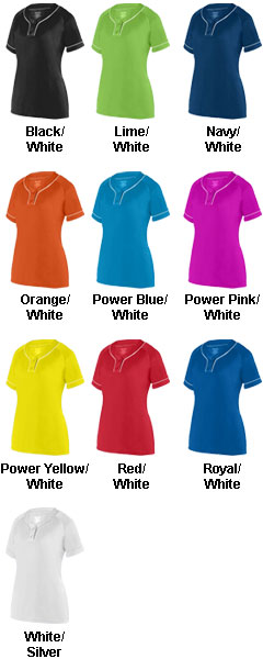 Ladies Overpower Two-Button Jersey - All Colors