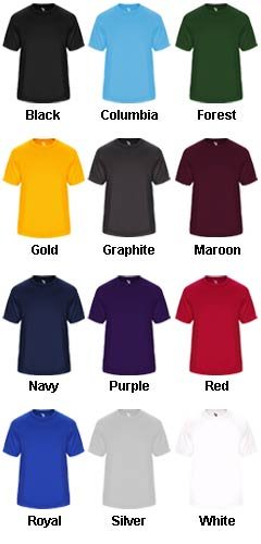 Adult Vent Back Tee - All Colors