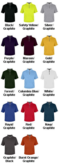 Adult B-Core Short Sleeve 1/4 Zip Pullover - All Colors
