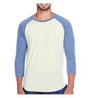 Custom Threadfast Apparel Mens Triblend 3/4 Sleeve Raglan