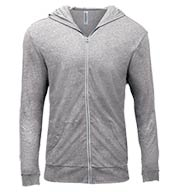 Custom Threadfast Apparel Unisex Triblend Full-Zip Light Hoodie