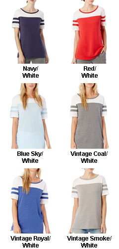 Womens Vintage 50/50 Jersey Stadium Tee - All Colors