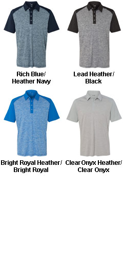 Adidas Golf Heather Colorblock Polo - All Colors