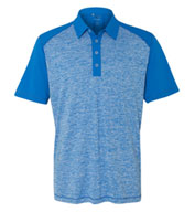 Custom Adidas Golf Mens Heather Colorblock Polo