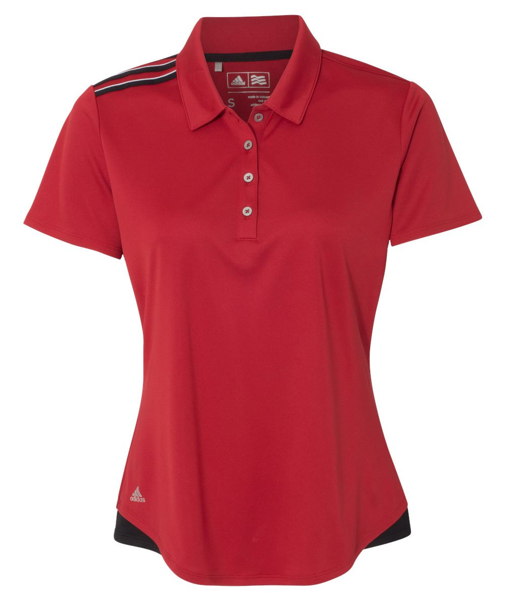 Custom Adidas Womens Climacool 3-Stripes Shoulder Polo 0d5d56ff7e