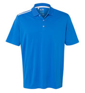 Custom Mens Adidas Climacool 3-Stripes Shoulder Polo