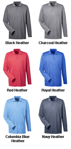 Mens Cool & Dry Heathered Performance Quarter-Zip - All Colors