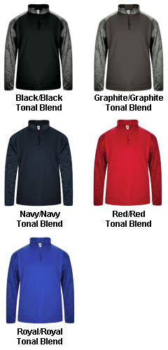 Adult Blend Sport Tonal Fleece 1/4 Zip - All Colors