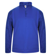 Custom Badger Adult Blend Sport Tonal Fleece 1/4 Zip