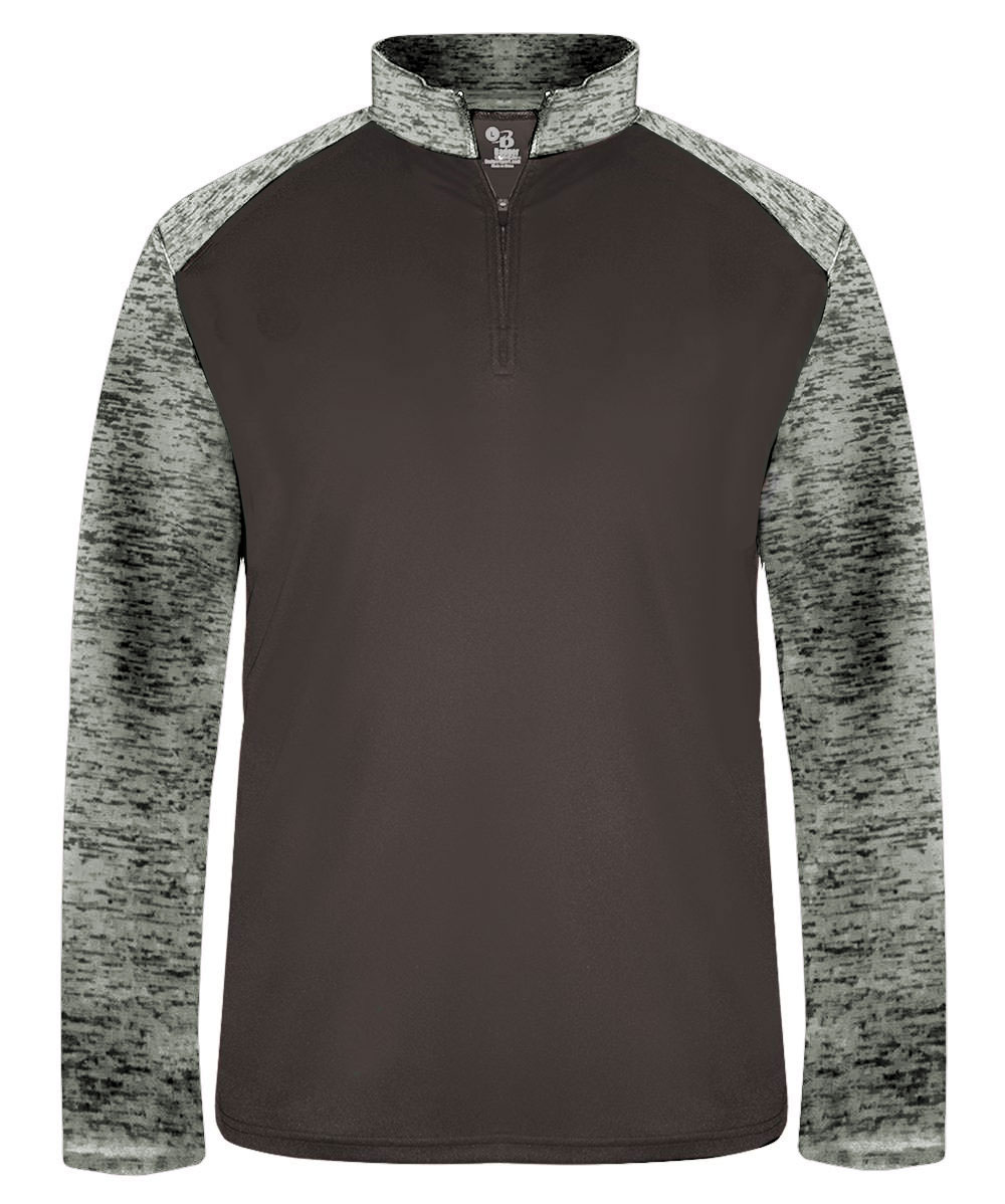 Badger Mens Sport Tonal Blend 1/4 Zip