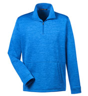 Custom Devon & Jones Mens Newbury Melange Fleece Quarter-Zip