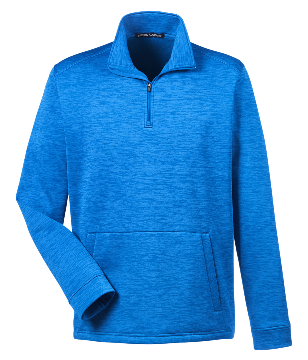 Devon & Jones Mens Newbury Melange Fleece Quarter-Zip