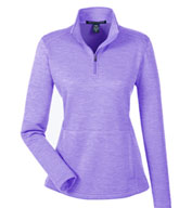 Custom Devon & Jones Ladies Newbury Mélange Fleece Quarter-Zip