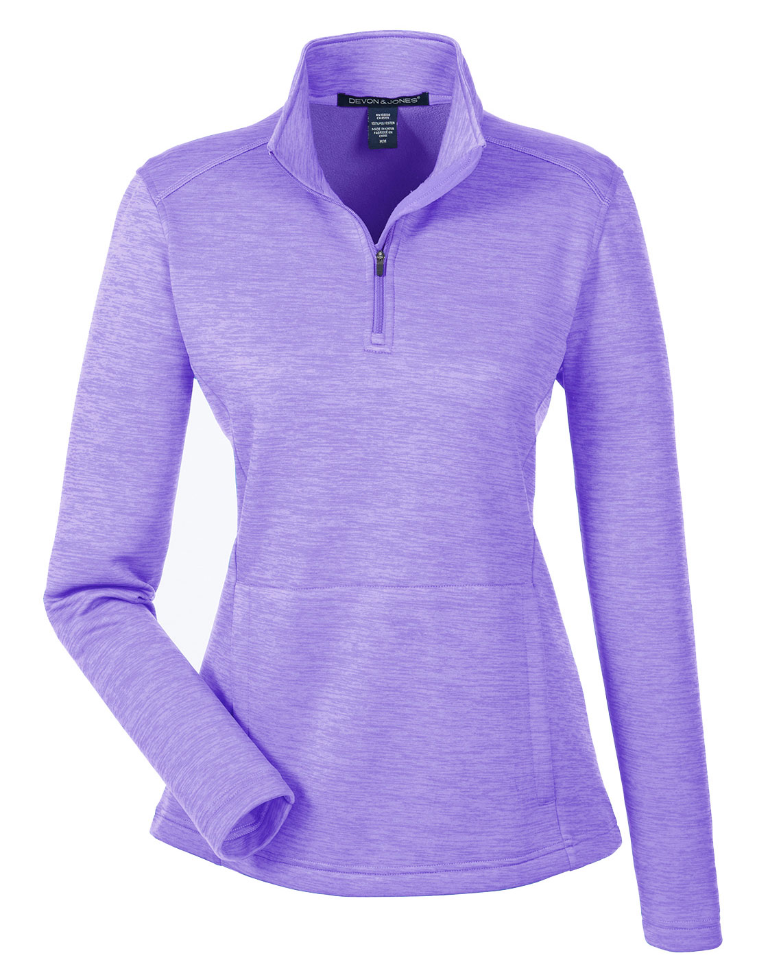 Devon & Jones Ladies Newbury Mélange Fleece Quarter-Zip