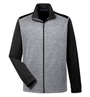 Custom Devon & Jones Mens Newbury Colorblock Mélange Fleece Full Zip