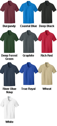 Adult Core Classic Pique Pocket Polo - All Colors