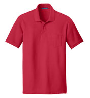 Custom Port Authority® Adult Core Classic Pique Pocket Polo