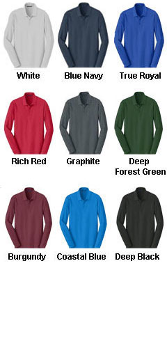 Adult Long Sleeve Core Classic Pique Polo - All Colors