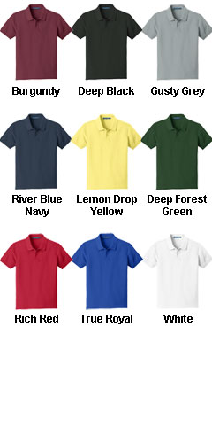 Youth Core Classic Pique Polo - All Colors